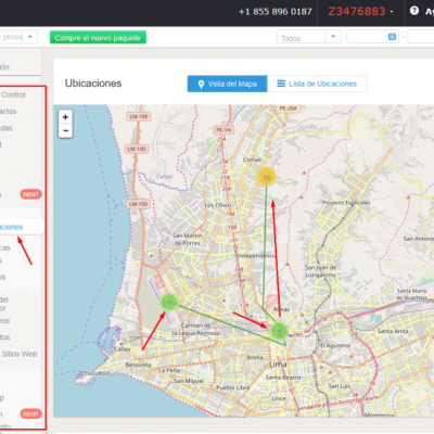 Ubicaciones por GPS de mSpy